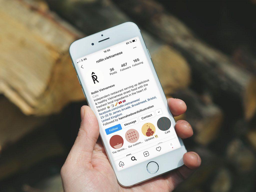Rollin Vietnamese Mock Up Instagram Landing